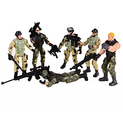 ldiers Miniatures Figures, American Privates Toy Soldiers Models With Joints Posable With Weapons (Miniature Toy Soldier)