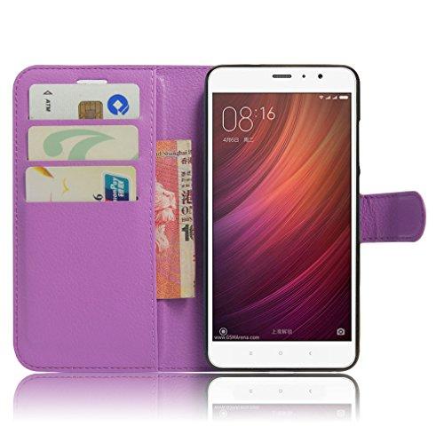 Funda Xiaomi Redmi Note 4,Manyip Caja del teléfono del cuero,Protector de Pantalla de Slim Case Estilo Billetera con Ranuras para Tarjetas, Soporte Plegable, Cierre Magnético H