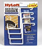 HyLoft  Add-On Storage Hook Accessory for HyLoft Model-540 Ceiling Rack, 4-Pack