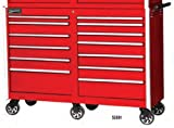 Williams 50891 14 Drawer 53-Inch Professional Roll Cabinet, Red