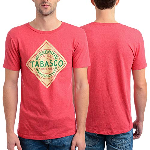 Isaac Morris Men's Tabasco Label Short Sleeve T-shirt, Red, ()