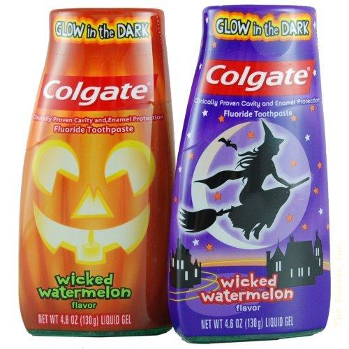[Colgate Children's Glow in the Dark Wicked Watermelon Fluoride Toothpaste Liquid Gel 4.6 oz - 2] (Easy Scary Costumes)
