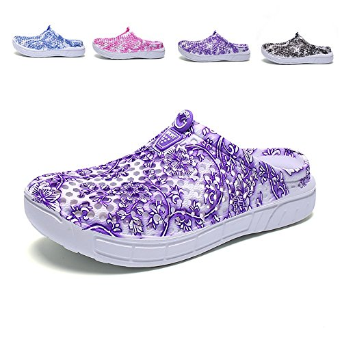HarlanLi Women's Porcelain Pattern,Garden Shoes Clogs Slippers Sandals Beach Shower Shoes