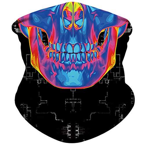 Skull Mask Half Face Mask Bandana for Sun Dust Wind Protection Mask for Riding Motorcycle Cycling Fishing Hunting Summer Seamless Bandana Breathable Thin 3D Skeleton Tube Mask (Skull Mask 0119) ()