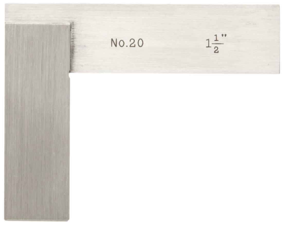 Starrett 20-1-1/2 Hardened Steel Master Precision Square, 1-1/2'' Beam Length, 1-1/2'' Blade Length