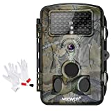 Neewer 1080P 12MP HD Infrared Digital Trail Camera 2.4 inches LCD Display, 42 IR LEDS, 120 Degree Wide Angle Night Vision, Waterproof Dustproof for Hunting with 3-IN-1 Camera Cleaning Kit