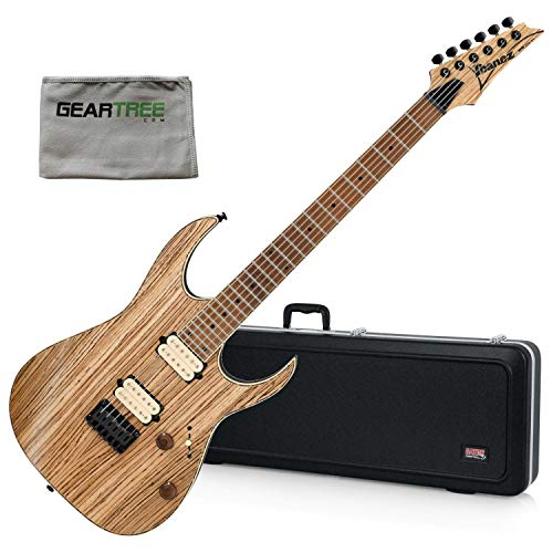 (Ibanez RGEW521MZWNTF RGEW Electric Guitar - Natural Flat w/Polish Cloth and Har )