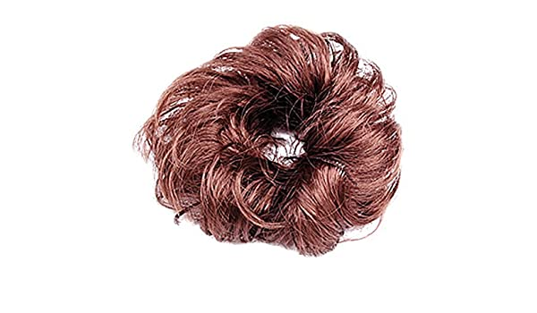 Amazon.com: eDealMax señoras de Pelo sintético/onda rizada postizo/Bollo / peluca, Brown, 0,04 la Libra: Health & Personal Care