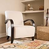 Bravo Ivory Fabric Club Chair