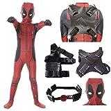 Best Deadpool Costumes - AMOCO Mens Boys Lycra Spandex Superhero Cosplay Costumes Review