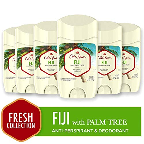Old Spice Antiperspirant and Deodorant for Men, Fiji with Palm Tree Scent, 2.6 Oz (Pack of 6) ()
