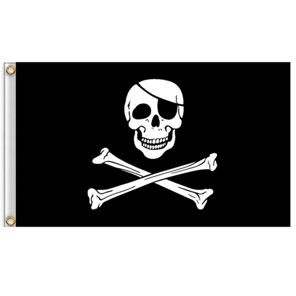 3 Pcs 2 X 3 Skull And Crossbones Jolly Roger Flag For Outdoor Vlalin Pirate Flag Outdoor Décor Flags