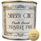 Antique Gold Chalk Based Furniture Paint great for creating a shabby chic style. 125ml by Shabby Chic Furniture Paint