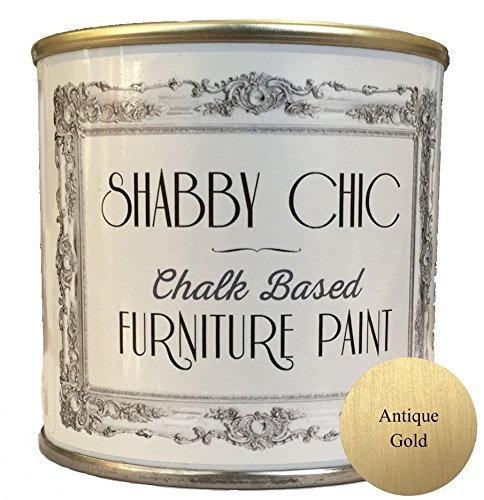 Antique Gold Chalk Based Furniture Paint great for creating a shabby chic style. 125ml by Shabby Chic Furniture Paint (Shabby Chic Paint)
