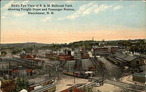Railroad Freight Depot (Bird's-Eye View of B. & M. Railroad Yard, Showing Freight Depot and Passenger Station Original Vintage)