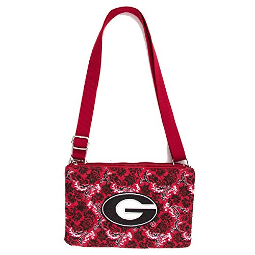 - Eagles Wings Georgia Bulldogs UGA Purse Bloom Quilted Crossbody Handbag