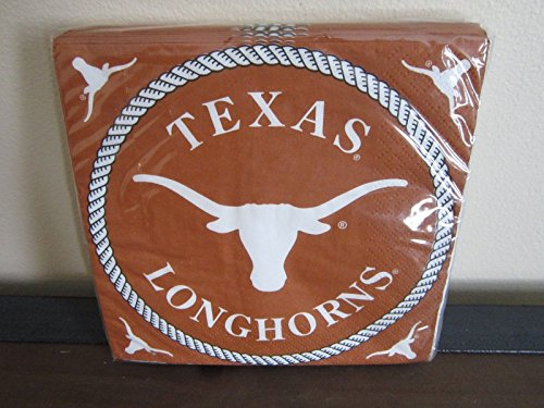Texas Longhorns NCAA College University Sports Party, Paper Napkins