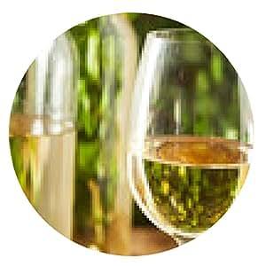 alfombrilla de ratón Refreshring vino blanco en un vaso - ronda - 20cm