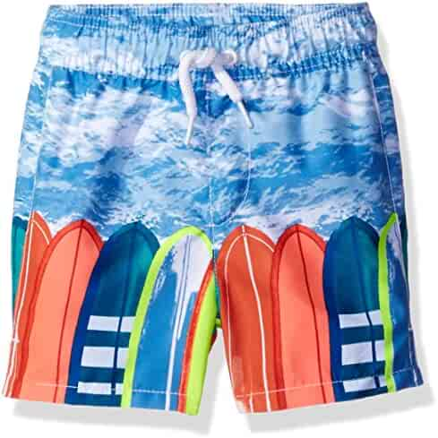 The Children's Place Baby-Boys' Li'l Guy's Printed Trunks Swim Shorts