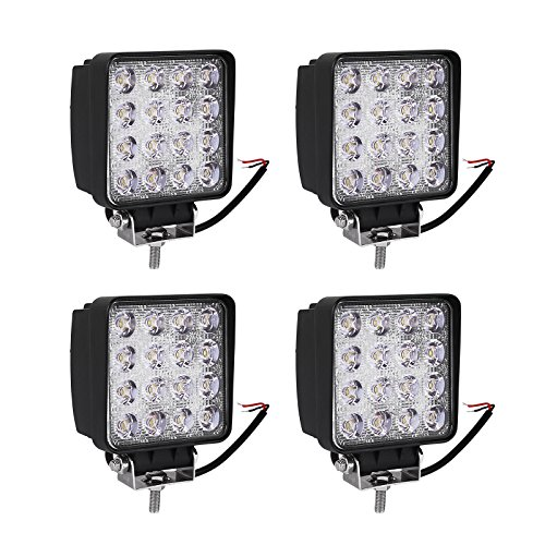YITAMOTOR Led Light Bar,4PACK 4 inch square led work light 48W off road Spotlight truck lights 4x4 off road tractor jeep work lights fog lamp