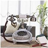 Telephones European Style Living Room Ice Cracked White Antique Telephone Carved Fixed Landline Bedroom Decoration Old Telephone Retro Phone