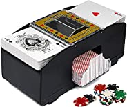 2 Deck Automatic Card Shuffler,Bridge Game Electric Playing Card Shuffler Automatic Poker Card Shuffler Machin