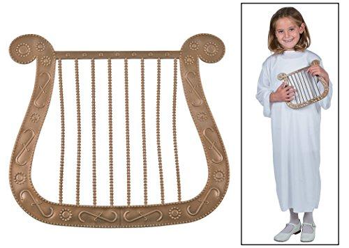 Bronze Angel Harp Costume Prop (Angel Costumes For Women)