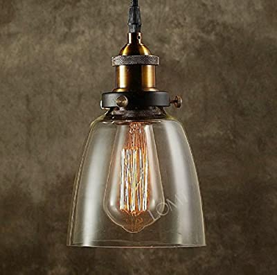 Modern Vintage Industrial Metal Bronze Glass Ceiling Lamp Shade Pendant Light 2015 NEW Edition