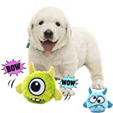 Dog Toy Squeaky Automatic Ball Interactive Plush Electronic Motion Shake Crazy Bouncer Toy for Small Medium Doggie