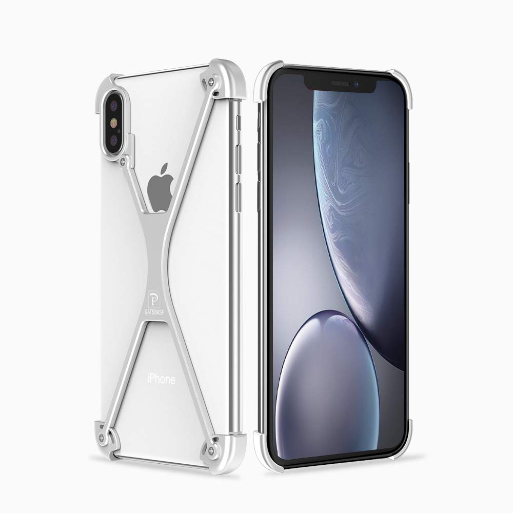 competitive price a9672 e90e7 OATSBASF X-Frame Case for iPhone X, Minimal iPhone X Bumper Case, Shock  Absorption Edge Protectors Support Wireless Charging