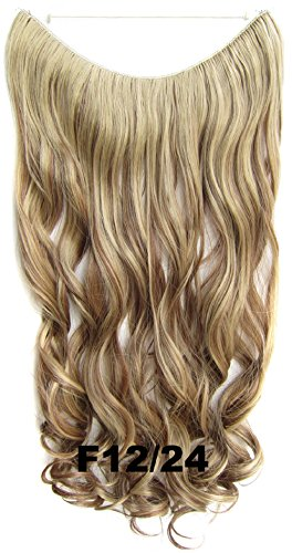 Curly Secret Wire Flip in No Clip Hair Extensions Natural Hidden Wire Synthetic Hairpieces No Clip Hair Extensions adjustable transparent Wire