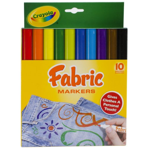 Crayola 58 8623 10 Pack Fabric Markers