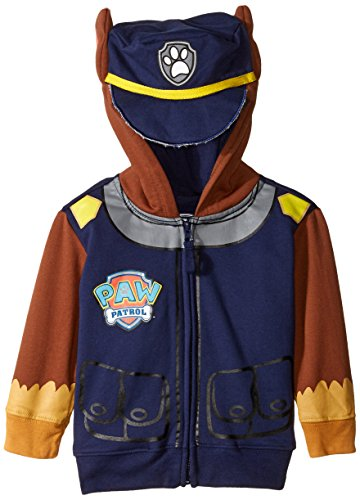 Birthday Sweatshirt Kids (Nickelodeon Little Boys' Paw Patrol Chase Toddler Costume Hoodie, Navy, 4T)