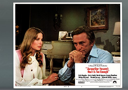 (MOVIE POSTER: JACQUELINE SUSANN'S ONCE IS NOT ENOUGH-1975-LOBBY CARD-VF-DRAMA-DEBORAH R VF)
