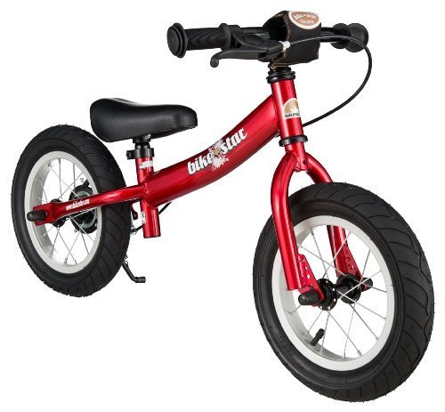 BIKESTAR Original Safety Lightweight Kids First Balance Running Bike with brakes and with air tires for age 3 year old boys and girls | 12 Inch Sport Edition | Heartbeat Red