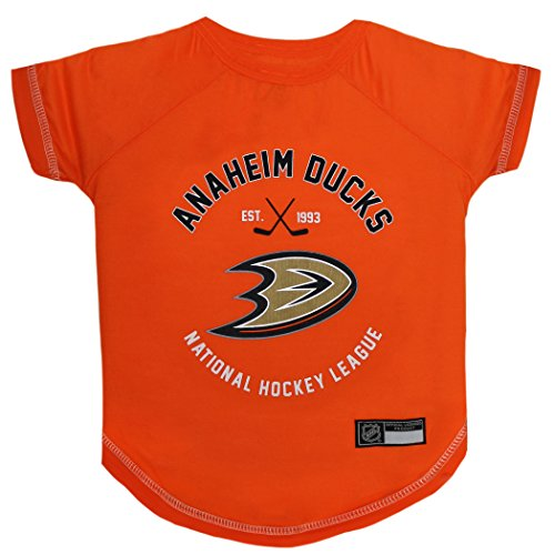 (NHL Anaheim Ducks Tee Shirt for Dogs & Cats, X-Small. - are You a Hockey Fan? Let Your Pet be an NHL Fan)