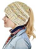 Ponytail Beanie Hats - Womens Warm Chunky Thick Stretchy Knit Beanie Skull Cap Winter Knitting Warm Hat,B-ponytail Style Beige