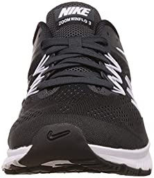 Nike Mens Zoom Winflo 3 Black/White/Anthracite Running Shoe 11 Men US