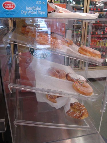 Self Serve Pastry Or Donut Display Case 3 Trays For Deli