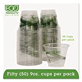 Eco-Products GreenStripe Renewable Resource Compostable Cold Drink Cups 9 oz, 50 Count