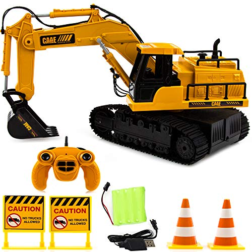 Toysery Radio Control Engineering Truck Toy for Kids | Full Functional Remote Control Construction Tractor Bulldozer Toy | Excavator Toy for Boys, Girls.