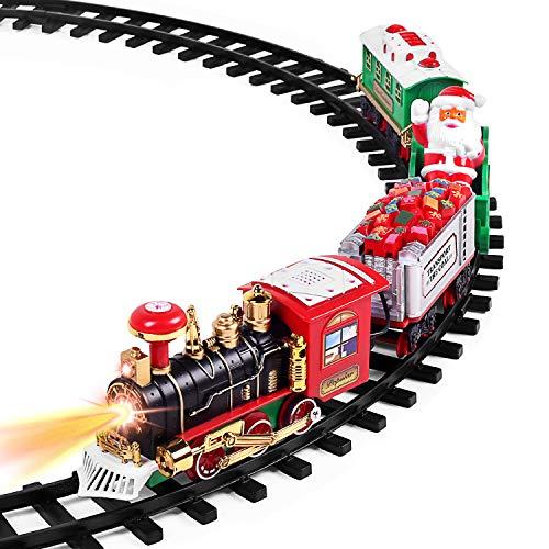 AOKESI Toy Train Set with Lights and Sounds - Christmas Train Set - 30