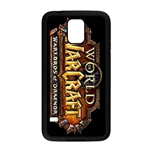 games World of Warcraft Warlords of Draenor Logo Samsung Galaxy S5 Cell Phone Case Black Customized Gift pxr006_5288307