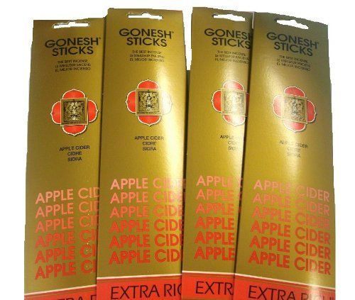 Gonesh Incense Sticks – Apple Cider Lot Of 4   B00B95LZXG