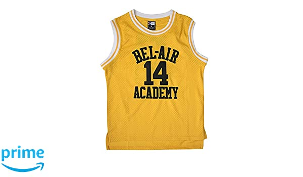 MOLPE Youth Smith  14 Bel Air Academy Jersey S-XXXL Yellow Christmas ... a26cb5626