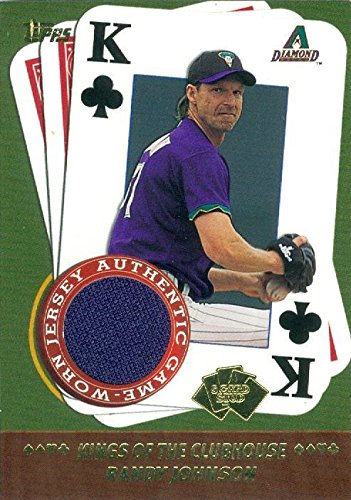 Autograph Warehouse 343557 Randy Johnson Player Worn Jersey Patch Baseball Card - Arizona Diamondbacks 2002 Topps 5 Card Stud No. SK-RJ