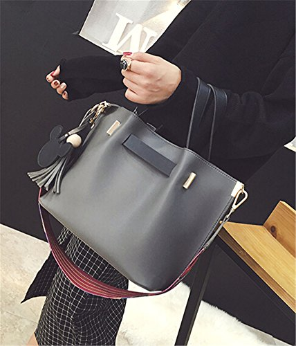 TOMATO-smile - Bolso mochila  para mujer azul negro gris