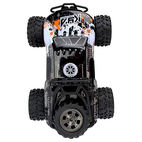 Volity RC Car, Livoty 2019 Updated 1/18 2WD Scale High Speed Remote Control Car, 2.4Ghz Off Road RC Trucks with Rechargeable Batteries, Electric Toy Car for All Adults & Kids
