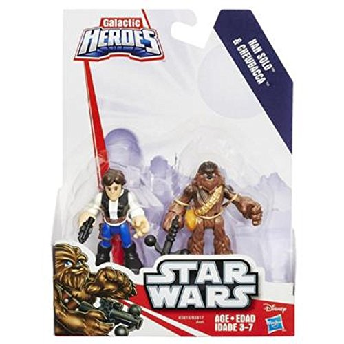 Baby Star Wars Costumes Uk (Playskool Heroes Star Wars Galactic Heroes Han Solo and Chewbacca)
