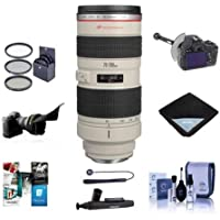 Canon EF 70-200mm f/2.8L USM AF Lens Kit, USA - Bundle With 77mm Filter Kit, FocusShifter DSLR Follow Focus & Rack Focus, Flex Lens Shade, Lens Cap Leash, Cleaning Kit, Lens Wrap, Software Package
